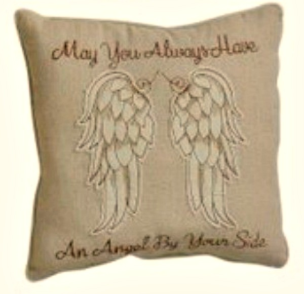 The Home Furnishings Company MAY YOU ALWAYS HAVE AN ANGEL BY YOUR SIDE  CUSHION 21x21cm