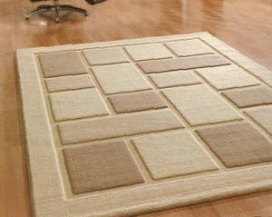 The Home Furnishings Company Natural/Cream/Ivory Textured Rug Large Rug 160 x 230 cms Easy to Clean