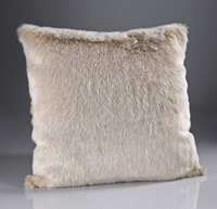 The Home Furnishings Company Beige Frost Luxury Faux Fur Throws and Cushions