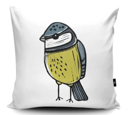 The Home Furnishings Company Blue Tit Cushion Giant Size: 3 feet x 3 feet -  plus scatter cushions