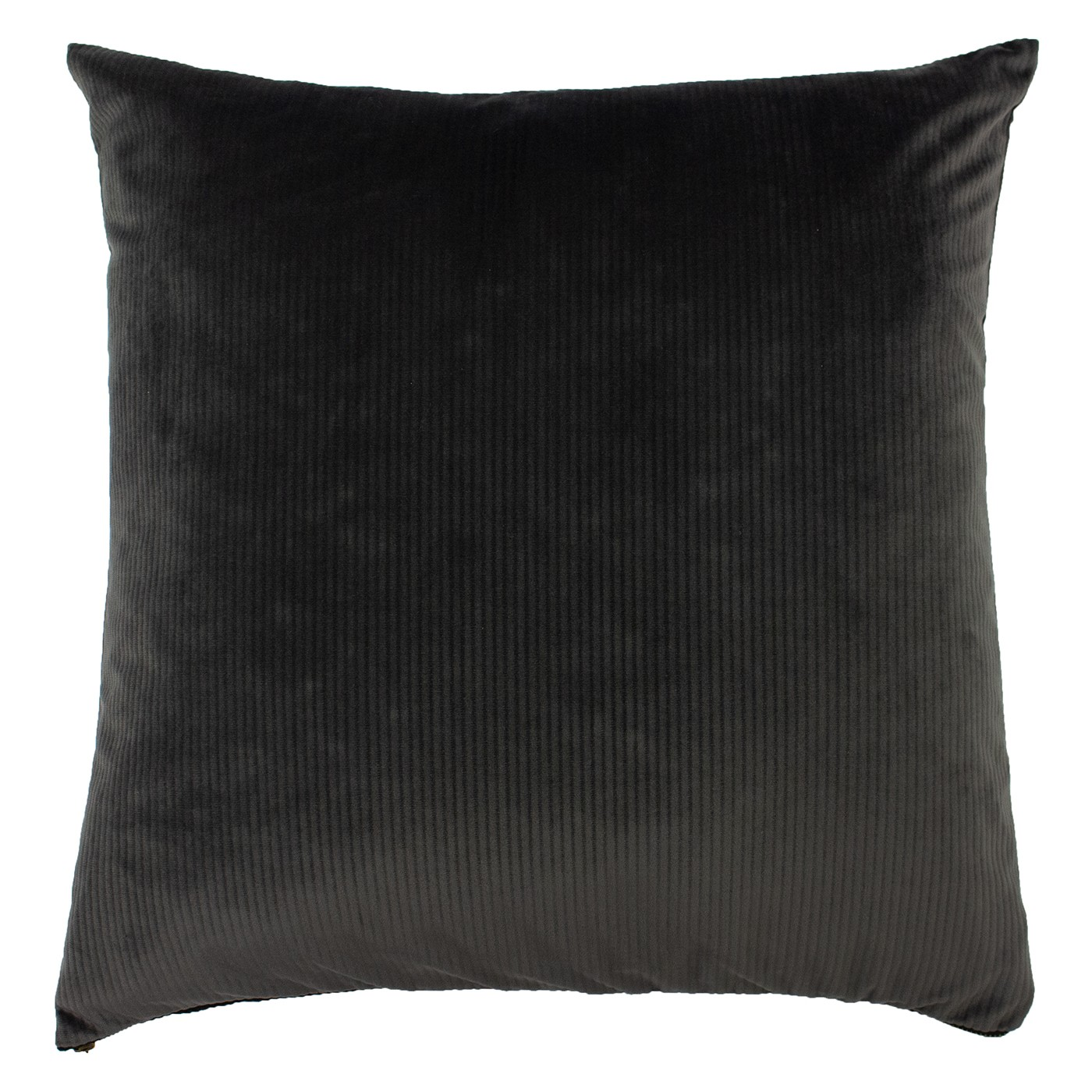The Home Furnishings Company Aurora Grey Velvet Corduroy Cushion 45x45cms