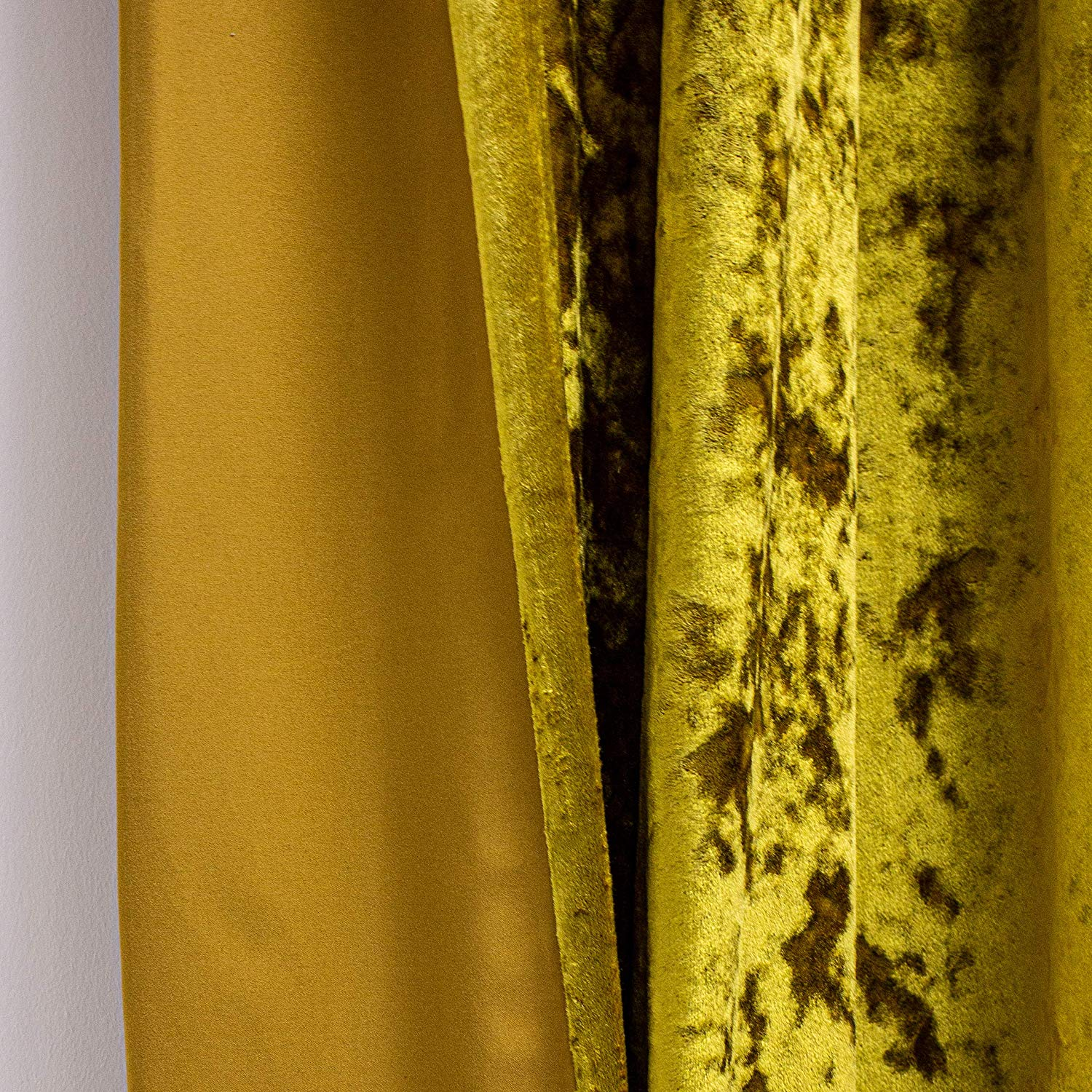 The Home Furnishings Company Verona Ochre Velvet Curtains/Bedding/Furnishings