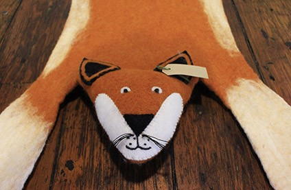 The Home Furnishings Company Handcraftef Felt Fox Rug - Finlay