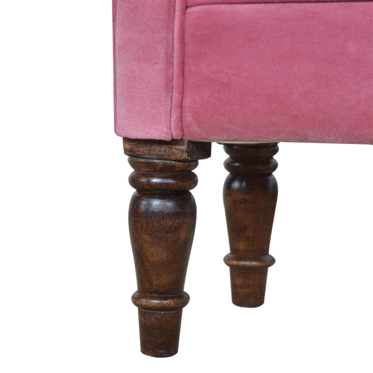 The Home Furnishings Company Pink Velvet Bench