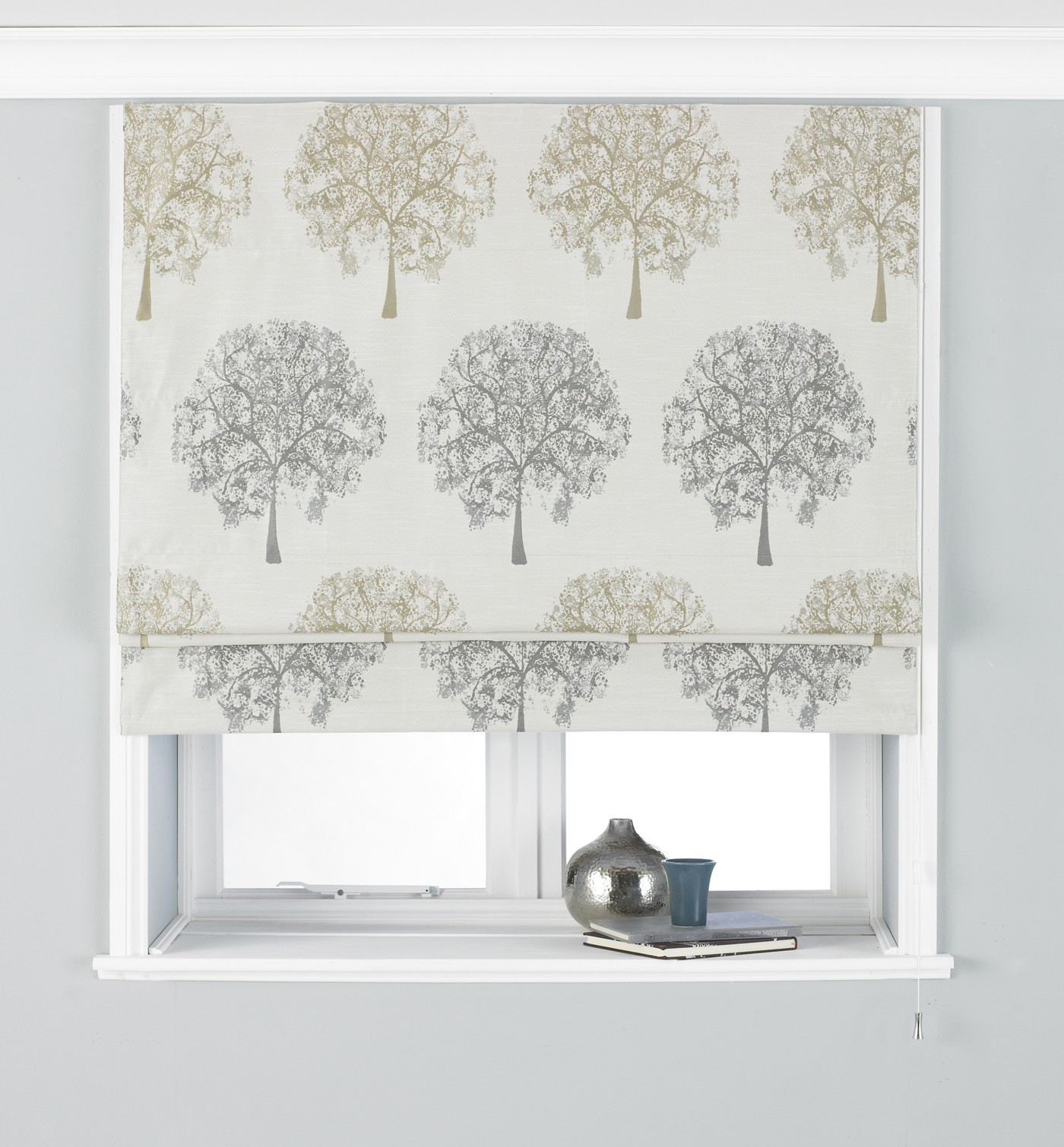 The Home Furnishings Company Oakdale Silver Curtains/Blind/Cushion