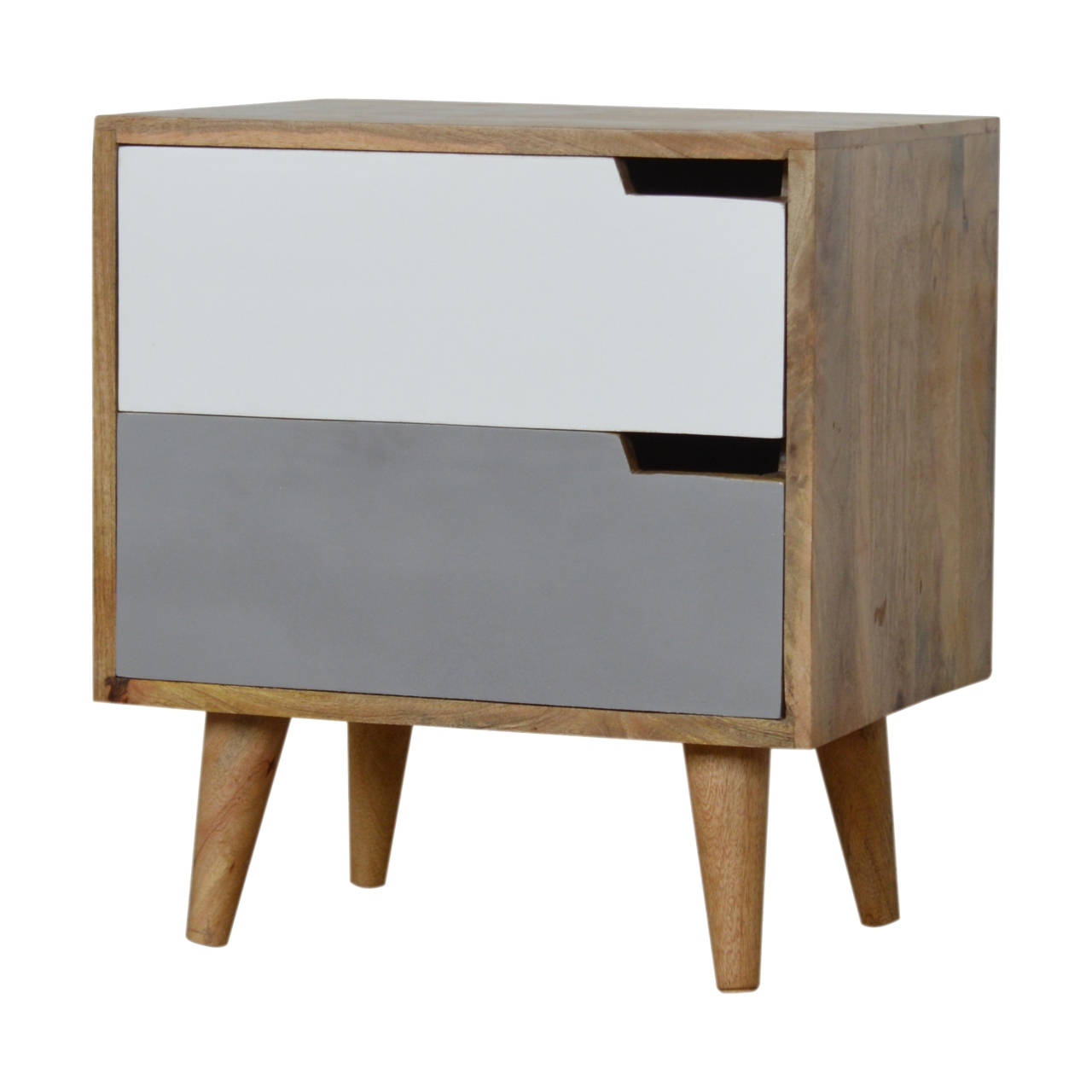The Home Furnishings Company Nordic Style Grey 2 Drawer Bedside Table