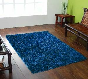 The Home Furnishings Company BLUE SHAGGY RUG 110X160 CMS - ONLY £69