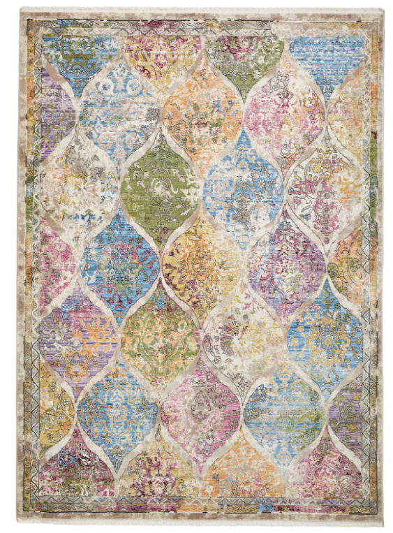 The Home Furnishings Company Athena  24021 Antique Design Multi Rug