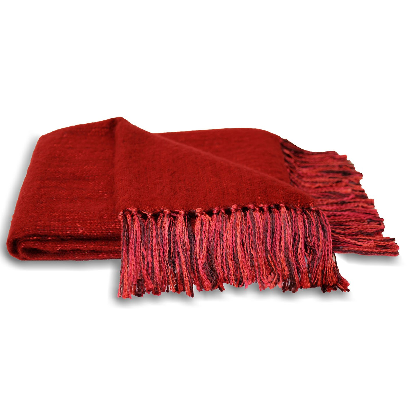 The Home Furnishings Company Red Chenille Style Throw 127x180 cms -  Ideal for sofas, chairs and beds