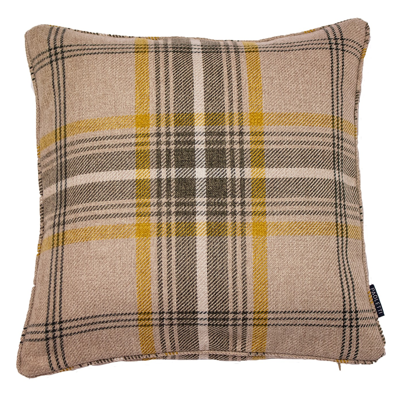 The Home Furnishings Company Aviemore Ochre Thistle Tartan Eyelet Curtains/Roman Blind/Cushion