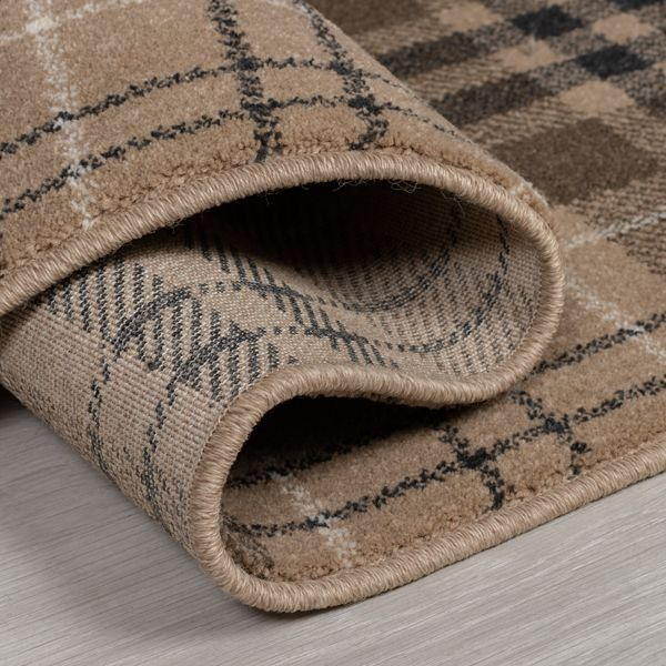 The Home Furnishings Company Loch Natural Tartan Design Rug