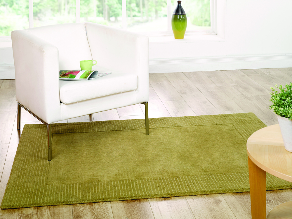 The Home Furnishings Company Tuscany Green Wool Large Rug 160x230cms £169