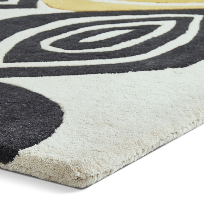 The Home Furnishings Company Natural Rug with Colourful Fall Design