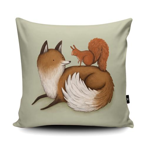 The Home Furnishings Company Fox and Squirrel Giant Floor Cushion and Scatter Cushions