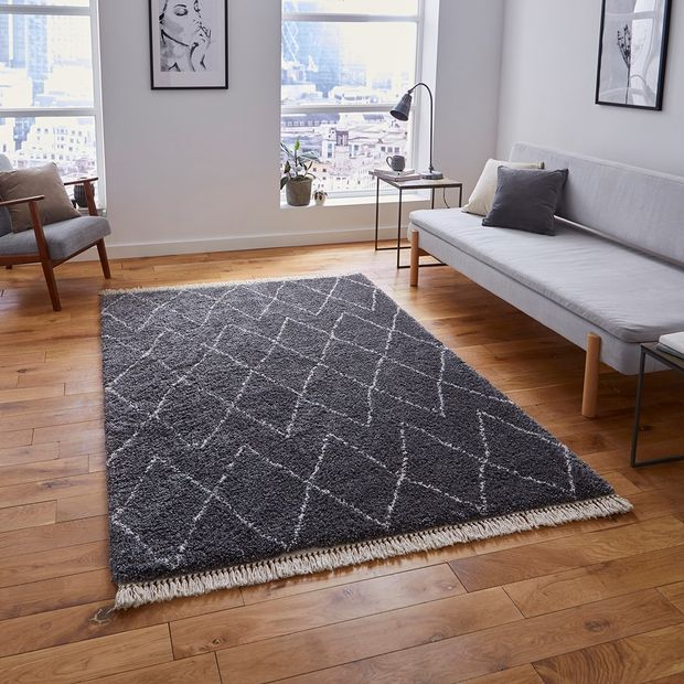 The Home Furnishings Company Grey 8280 Boho Rug 160x230cms