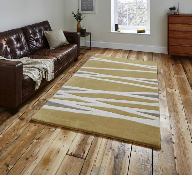 The Home Furnishings Company Yellow/Ochre Luxury Wool Rug