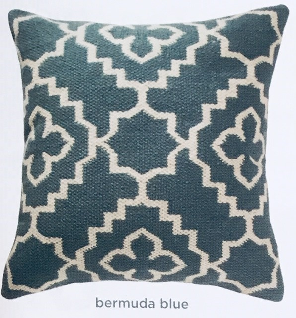 The Home Furnishings Company Alhambra Bermuda Blue Rug and Cushion