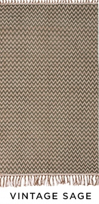 The Home Furnishings Company Grey Zigzag Weave Cotton/Jute Handloom Rug