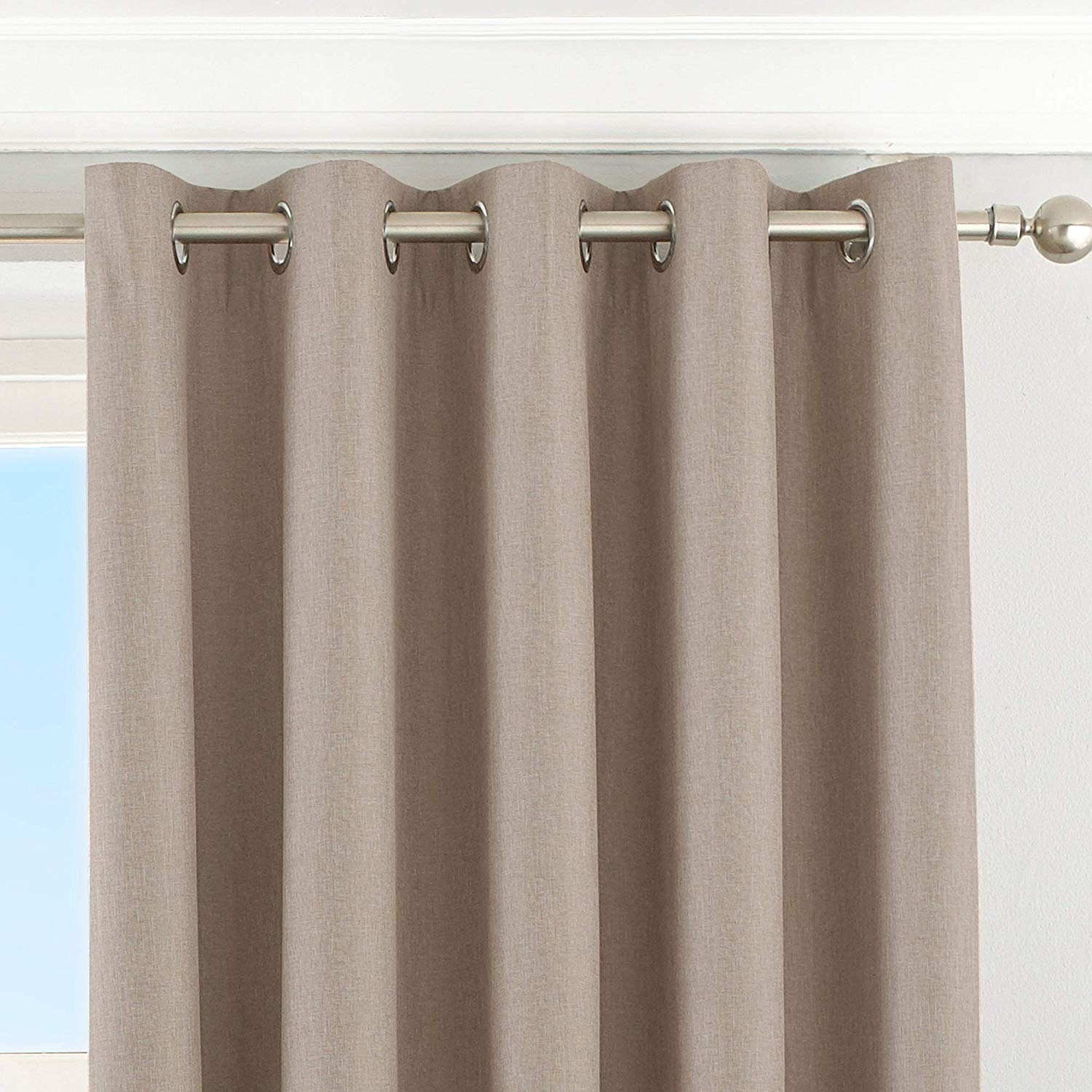 The Home Furnishings Company Natural Eyelet Blackout Curtains, Blind and Cushion