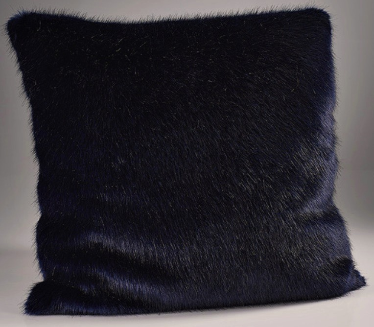 The Home Furnishings Company London Navy Blue Luxury  Faux Fur Cushion 45x45 cms