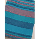 The Home Furnishings Company 100% Cotton Giant Blue/Turquoise/Purple Stripe Throw 230x365cms
