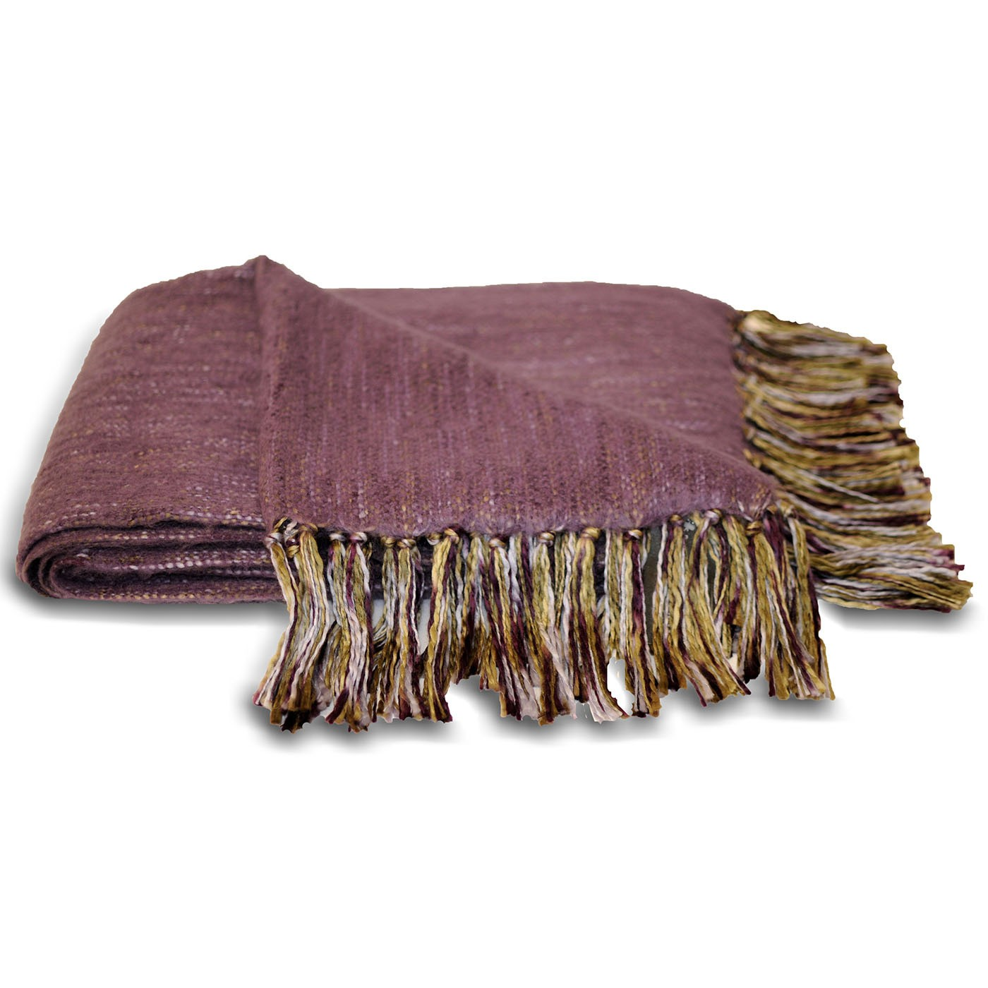 The Home Furnishings Company Plum Chenille Style Throw 127x180 cms -  Ideal for sofas, chairs and beds