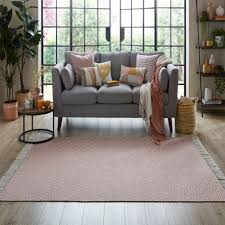 The Home Furnishings Company Pink Recycled Yarn Rugs and Runner