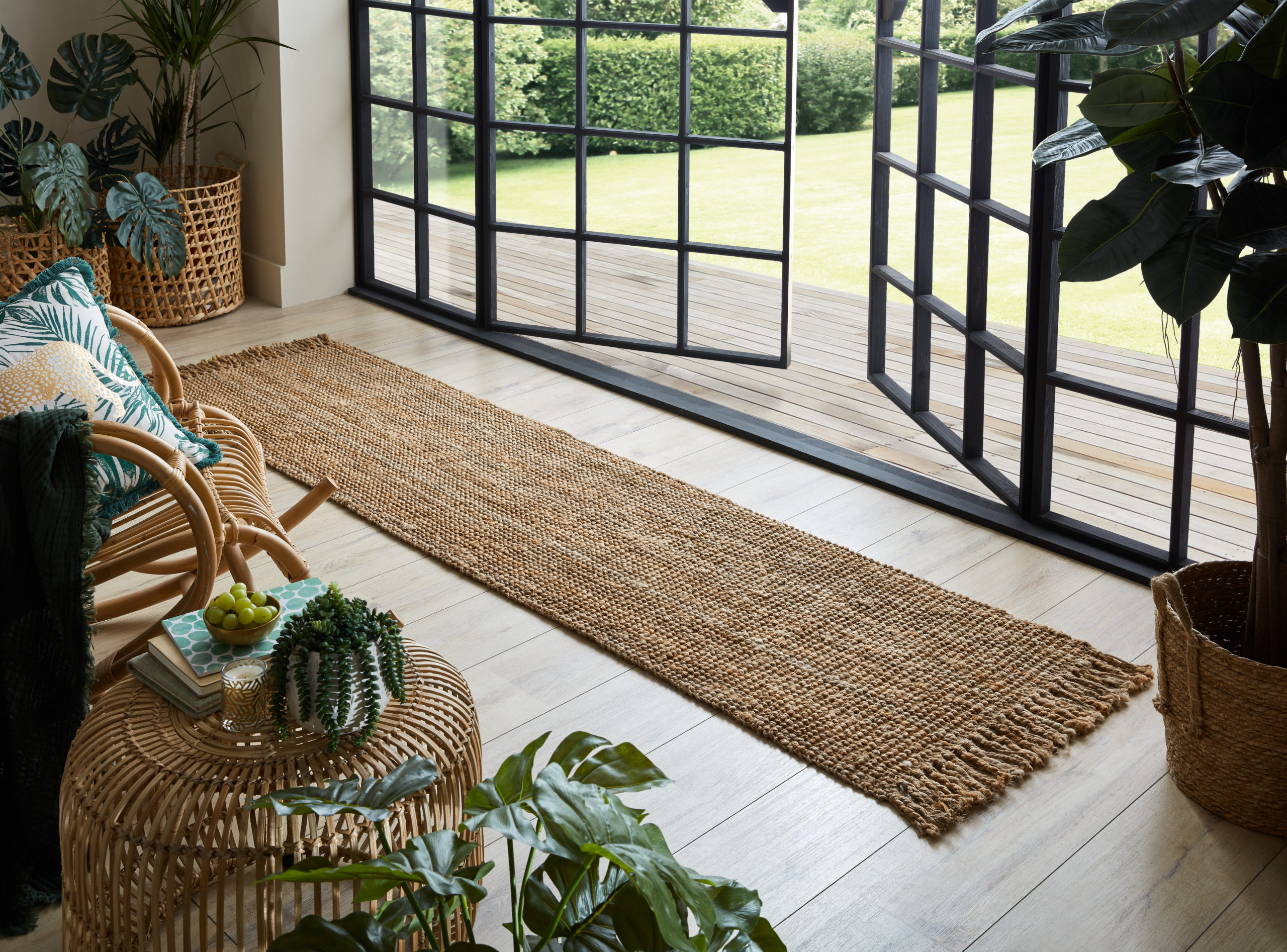 The Home Furnishings Company Natural Jute Boucle Rugs and Runner