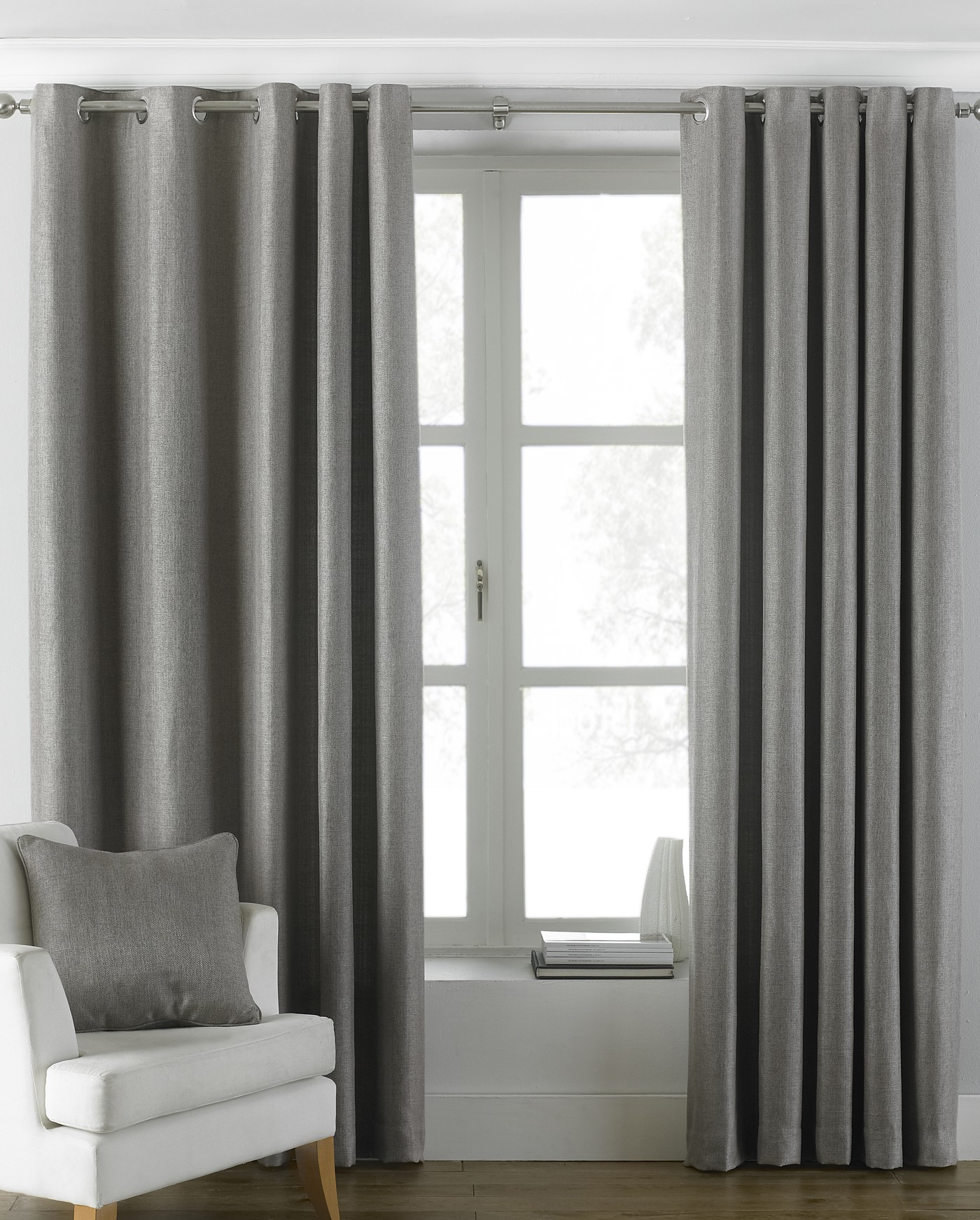 The Home Furnishings Company Atlantic Grey Curtains/Blind/Cushion