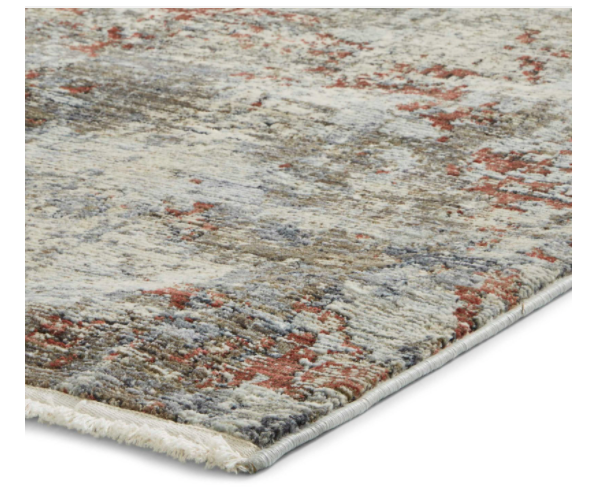 The Home Furnishings Company Athena 18597 Antique Design Grey/Terra Rug