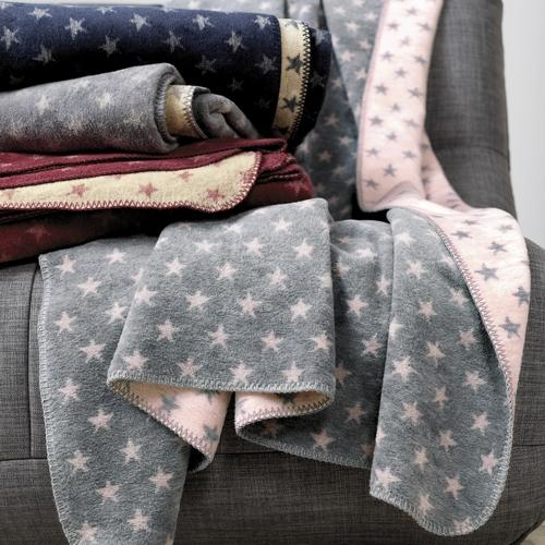 The Home Furnishings Company Boston Grey Star Blanket/Throw 150x200cms -  for Sofas, Chairs and Beds