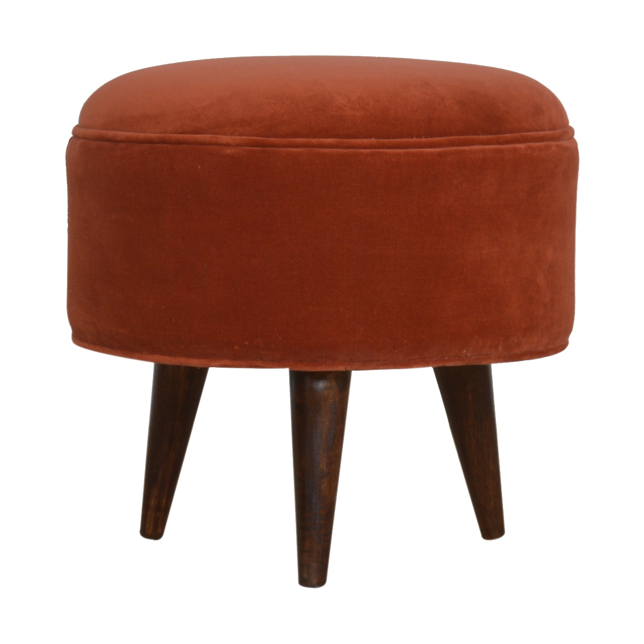 The Home Furnishings Company Brick Red Velvet Foot Rest Stool
