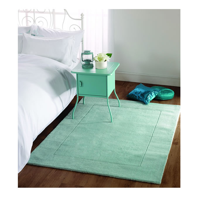 The Home Furnishings Company Tuscany Duck Egg Blue Wool Large Rug 160x230cms  £169.00