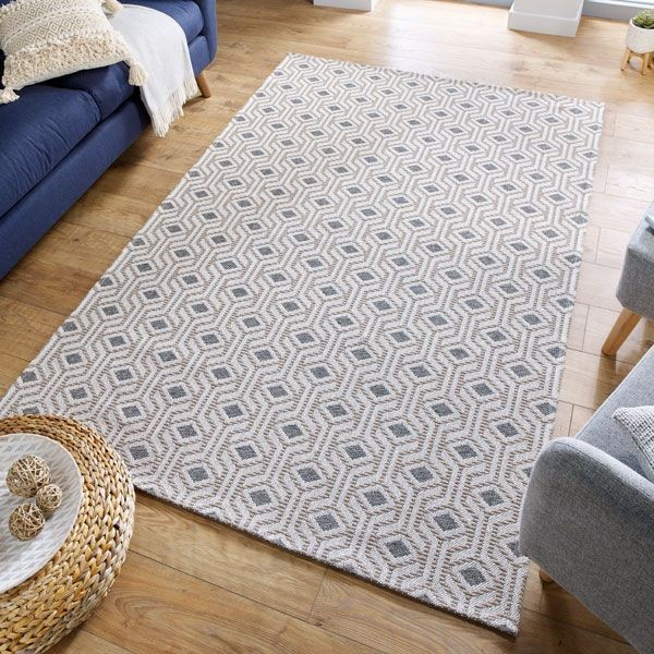The Home Furnishings Company Blue Recycled Cotton-Blend Rugs