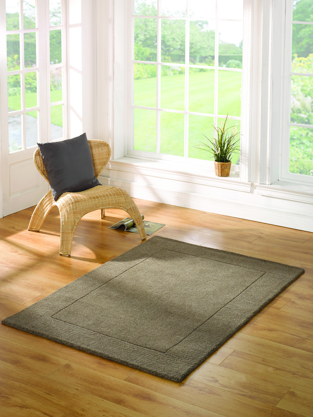 The Home Furnishings Company Tuscany Taupe Wool Rug 80x150cms  £69.00