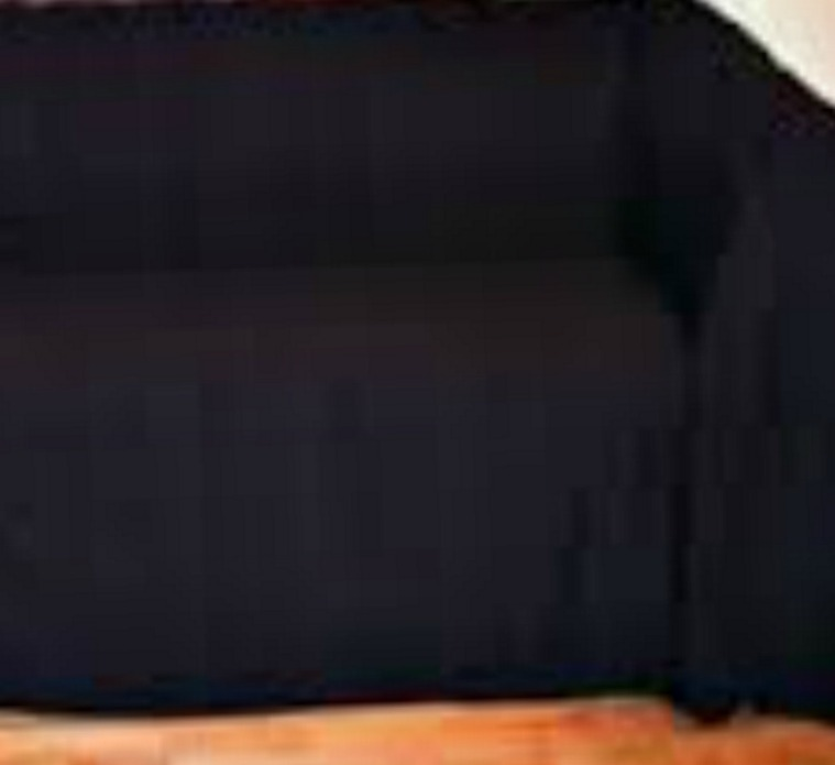 The Home Furnishings Company 100% Cotton Extra Large Black Throw 259x394 cms -Ideal for large 3 and 4 seater sofas