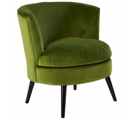 The Home Furnishings Company Green Round Armchair