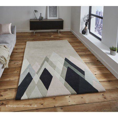 The Home Furnishings Company Designer Stand Tall Rug in Beige, Brown, Black, Grey and Silver