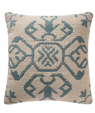 The Home Furnishings Company Isfahan Bermuda Blue Pebble and Cushion