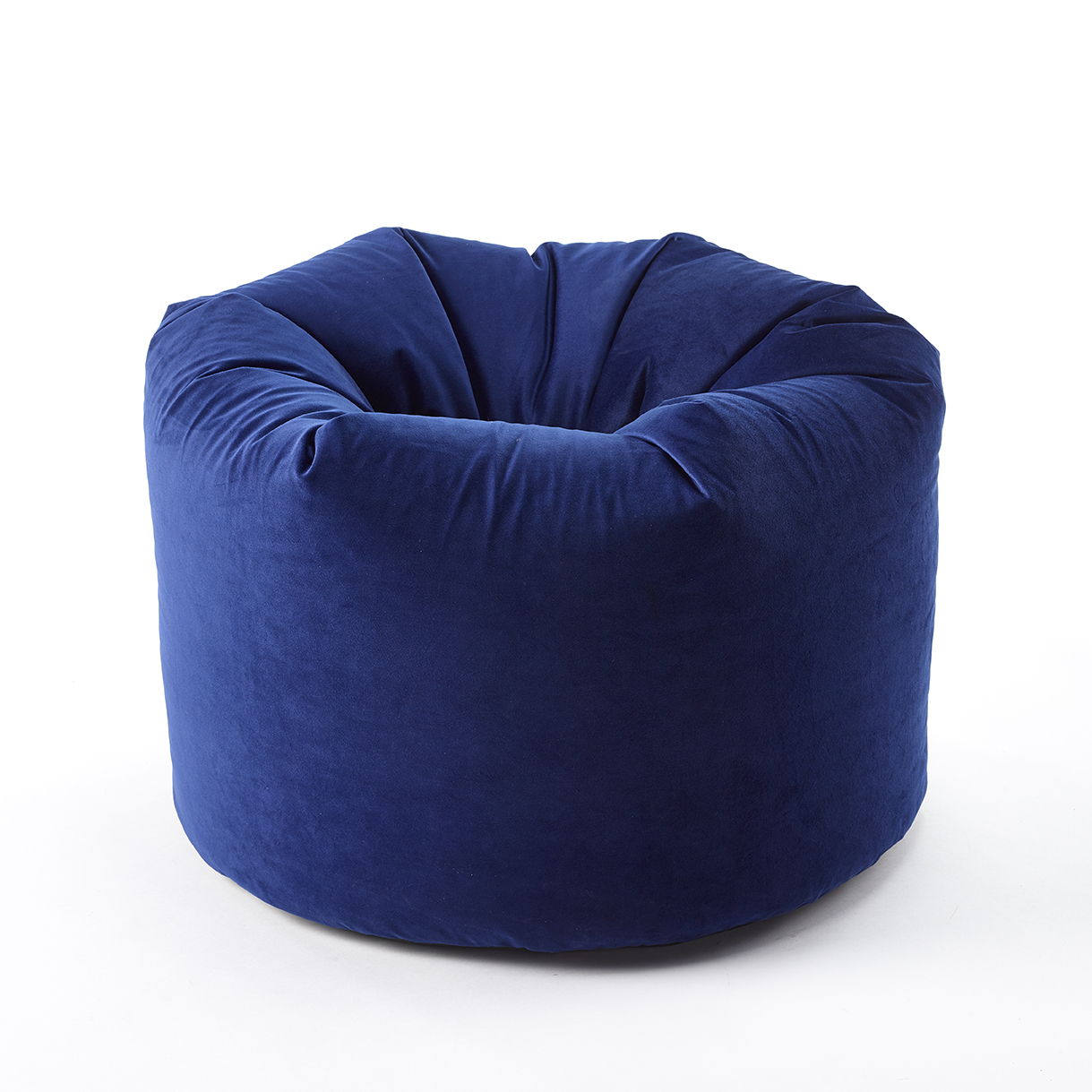 The Home Furnishings Company Royal Blue Velvet Style Luxury Bean Bag 50 x 60cms