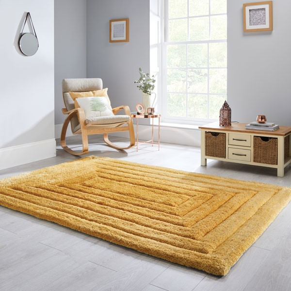 The Home Furnishings Company Ridge Ochre Rug 160x230cms