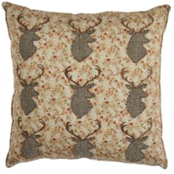 The Home Furnishings Company Brown and Grey Stag Cushion 30x30 cms