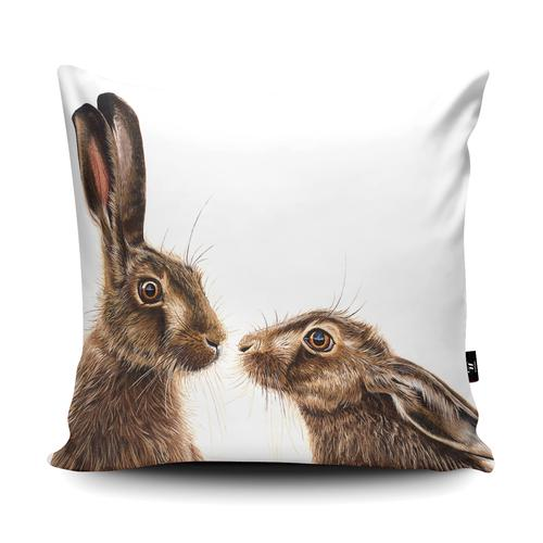 The Home Furnishings Company Kissing Hares Giant Floor Cushion Size: 3 feet x 3 feet - plus Scatter Cushions