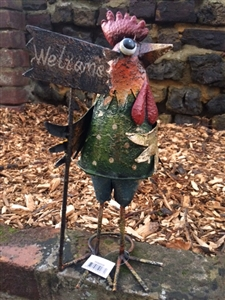The Home Furnishings Company Metal Bird Welcome Vintage Style Garden Ornament/Accessory