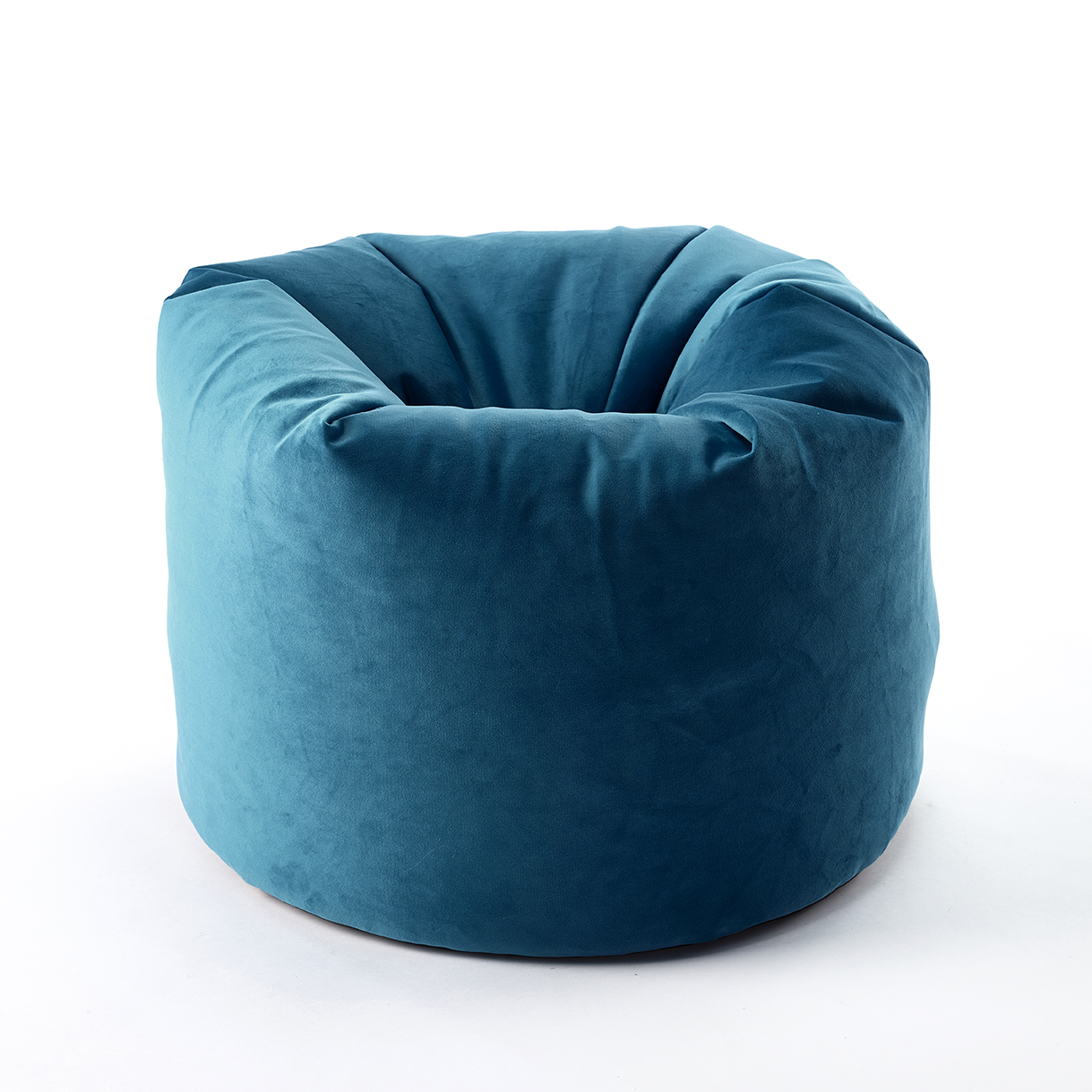 The Home Furnishings Company Teal Velvet Style Luxury Bean Bag 50 x 60cms