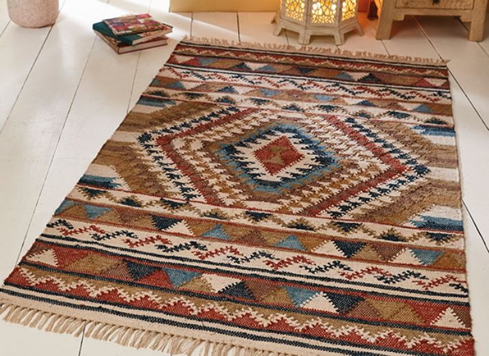 The Home Furnishings Company Panja Recycled Kilim Rug and Runner