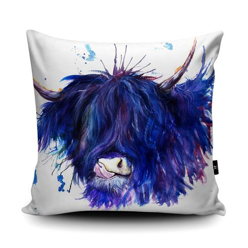 The Home Furnishings Company  Splatter HIighland Cow Giant Floor Cushion and Scatter Cushions