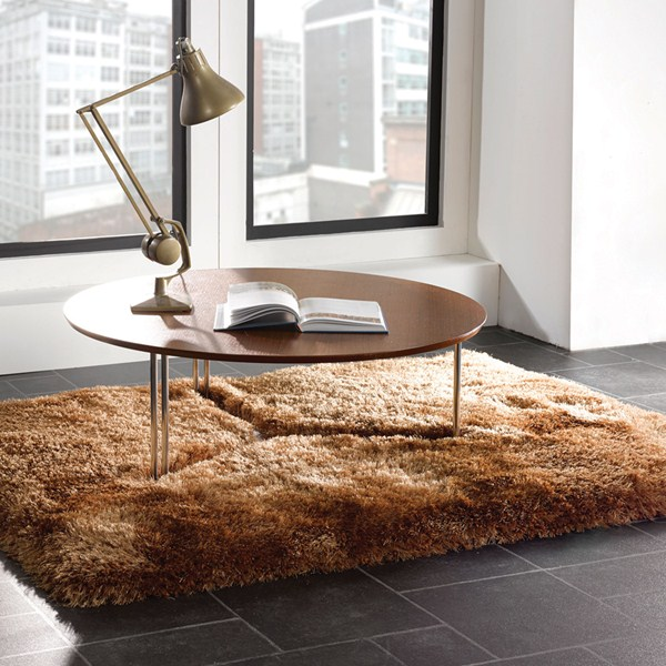 The Home Furnishings Company Caramel Super Luxurious Silky Shaggy Rug 160x230 cms