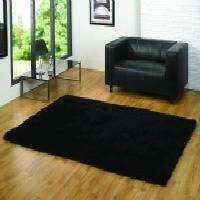 The Home Furnishings Company BLACK LUXURY SOFT SHAG PILE GIANT RUG 120x170 cms - ONLY £79