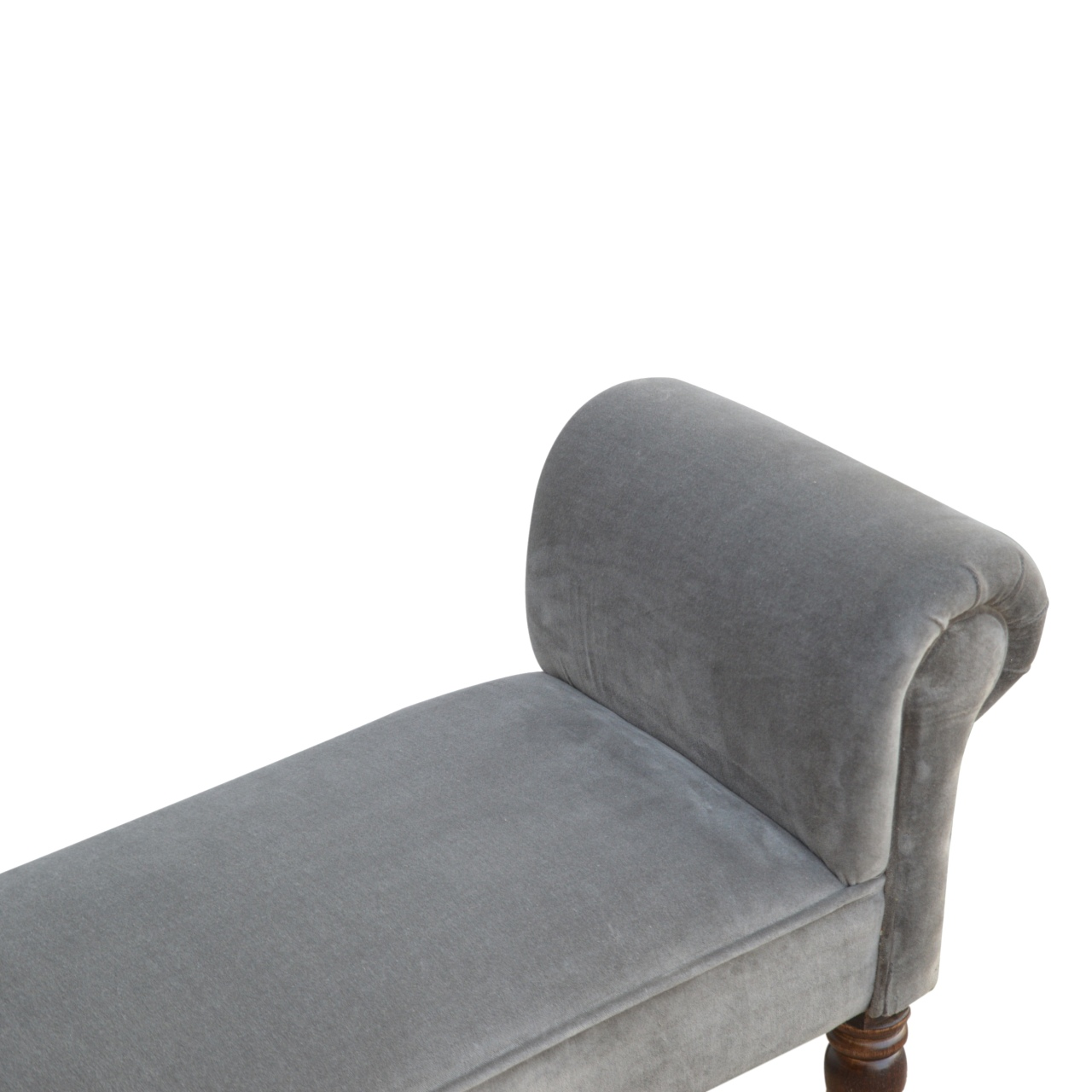 The Home Furnishings Company Grey Velvet Bench
